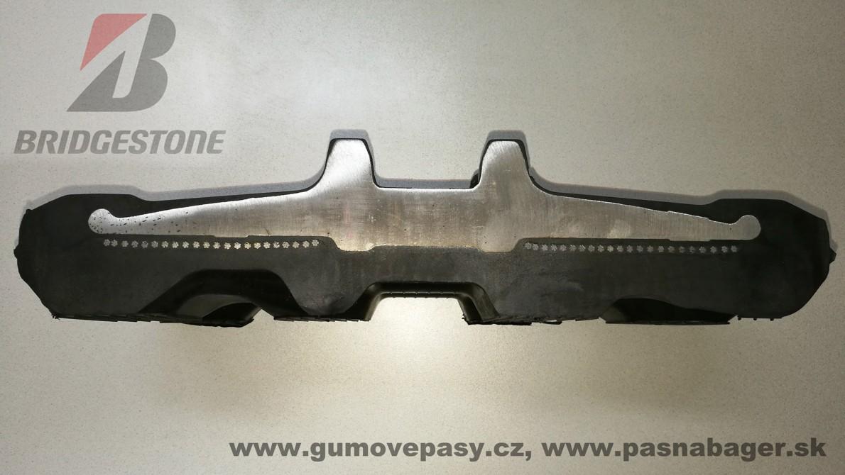 Gumový pás Bridgestone na pásový bagr a smykový nakladač